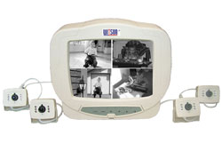 "SWJ-2208 10""-os quad monitor + 4db infra kamera"